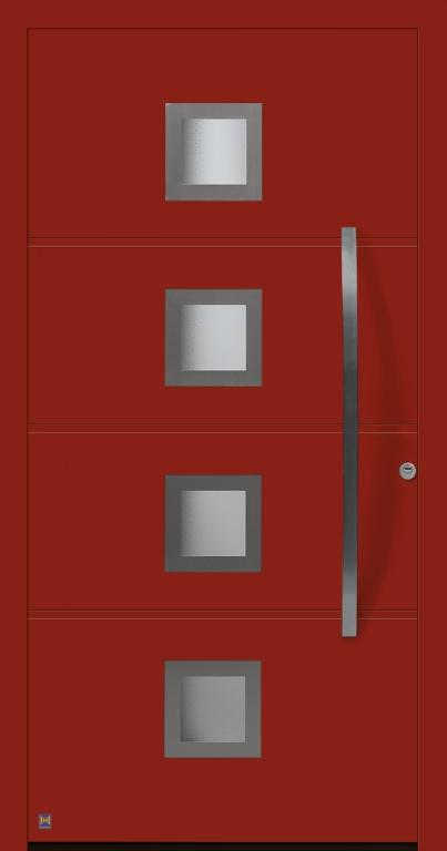 Motiv 173 ohne Sockelblech in Vorzugsfarbe Rubinrot matt, RAL 3003