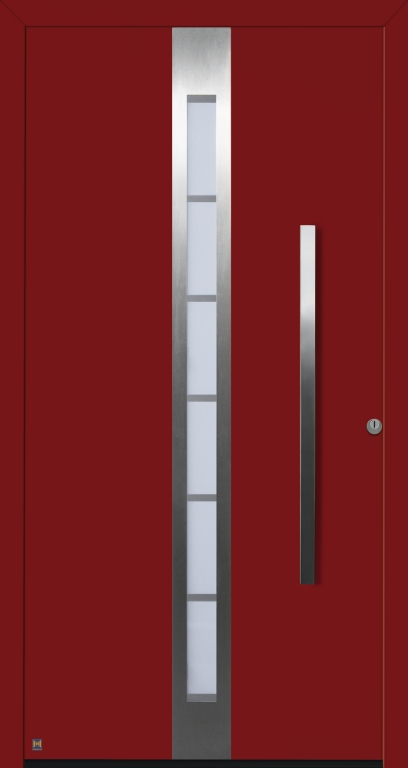Motiv 686 Thermo Safe in Vorzugsfarbton Rubinrot matt, RAL 3003