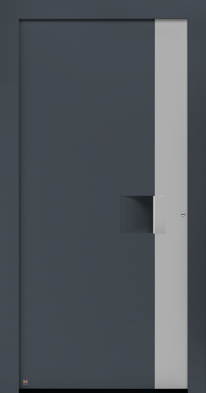 Motiv 301 Thermo Carbon in Vorzugsfarbe Schiefergrau matt, RAL 7015, Aluminium Applikation in Vorzugsfarbton Weißaluminium, RAL 9006
