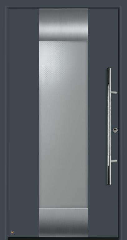Motiv 140 Thermo Safe in Vorzugsfarbe Schiefergrau matt, RAL 7015, mit Blendrahmen Ronda 70