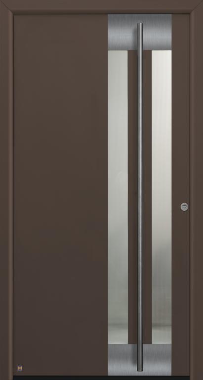 Motiv 584 Thermo Safe in CH 607 Maronefarben strukturiert, mit Blendrahmen Rondo 70